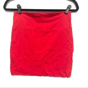 Wet Seal Red Mini Skirt (Size Medium)